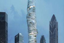 Loucuras Arquitetônicas / Edifícios malucos, futuristic architecture, future, bold design, big projects, project, architecture project, render, bim, projeto de arquitetura