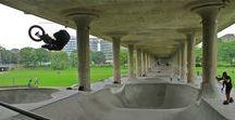 Espacios públicos bajo puentes