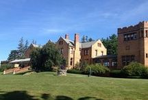 Mansion Moments / The centerpiece of our property, with its extraordinary views of the Berkshires, is the hilltop Tudor-style Mansion, which was built by John Sloane in 1894 and has dominated the countryside for more than a century.