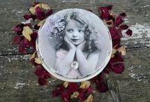 Handmade Vintage Rose&Stone / moje autorskie prace w technice decoupage