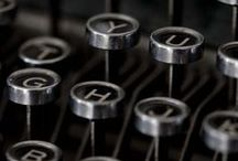 QWERTY - Typewriter Love / Vintage Typewriters and Keyboards / by BooksBySam