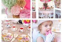 Tea party for little girls / Inspiration for planning a tea party for little girls