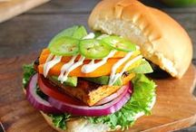Vegan Burgers, Sandwiches and Wraps / Lots of vegan burgers, sandwiches and wraps!