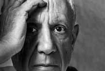 Picasso, Pablo / Pablo Ruiz y Picasso, known as Pablo Picasso, Spanish (1881-1973) was a painter, sculptor, printmaker, ceramicist, and stage designer, who spent most of his adult life in France. A wonderful and colourful artist as was his life... / by Lis Steeden