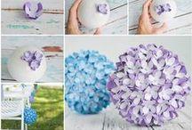 Fleurs en papier / Paper flowers