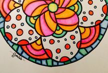 Teeny Tangles / Mandalas, Zendalas, Tangles and Art projects for Kids!