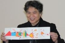 Katsumi Komagata / Katsumi Komagata es un artista gráfico japonés que, procedente del mundo del diseño y de la moda. Con el nacimiento de su hija crea una serie de tarjetas que finalmente conformarán su obra Little Eyes y su propia agencia One Stroke, con la que ha editado hasta 25 títulos que son todo un referente en el llamado libro-objeto.