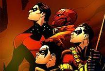 ROBIN (DC COMICS) / DICKGRAYSON JASON TODD TIM DRAKE AND DAIMAN WAYNE  / by Gene Slu