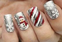 Winter Nail Art / Winter is Coming! - and it's time to accessorize accordingly. Glam up your nails with some wintery wonderland designs! #Nailart