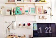 Home Office Decor / Idéias de decoração para o escritório