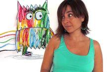 Anna Llenas / Anna Llenas dió sus primeros pasos profesionales en el sector de la publicidad como directora de Arte en Bassat-Ogilvy, y un buen día decidió establecerse por su cuenta. Se especializó en ilustración en la Escuela Eina y creó sus propios proyectos de diseño, que comercializa a través de diferentes canales. Ha llevado a cabo trabajos gráficos para clientes tan distintos. El Monstruo de colores fue su primer  álbum.
