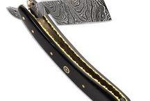 Straight Edge Razors / Find these ornate straight-edge razors on AtlantaCutlery.com
