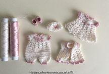 Dollhouse doll and crochet clothes / dollhouse dolls