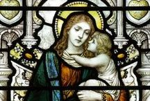 Stained Glass Virgin Mary / .