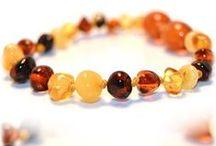 Baltic Amber Bracelets / A board hosting all of our baltic amber teething bracelets.