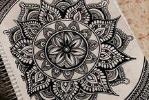 mandalas, zentangles, doodles