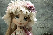 Dolls made of Fabric and chrochet dolls / Dolls made of fabric
