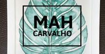 MAH C a r v a l h o / Ilustrações na aquarela by Marcella Carvalho