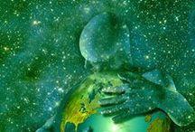 NUESTRO MUNDO / El Mundo es nuestro hogar y el hogar de todos los seres vivos. La Tierra misma está viva. Somos partes de un universo en evolución. Somos miembros de una comunidad de vida interdependiente con una magnifica diversidad de formas de vida y culturas. Nos sentimos humildes ante la belleza de la Tierra y compartimos una reverencia por la vida y las fuentes de nuestro ser. / by Genoveva MARTINEZ