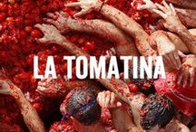 ¡Viva La Tomatina! / La Tomatina, a.k.a the Tomato Battle, is the annual event of hurling tomatoes at your neighbour held in the Spanish town Buñol. The streets will run with tomato juice!