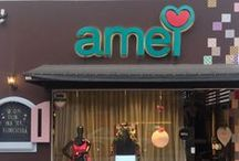 Inspiratrine AMEI / Vitrine na loja AMEI é assim maneira de se expressar através do que a gente mais AMA.. Com ajuda da nossa linda JOAQUINA!!!