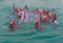 water polo / ini nih salah satu olahraga air yang dimainkan secara beregu. dan termasuk salah satu olahraga yang dipertandingkan di PON RIAU 2012
