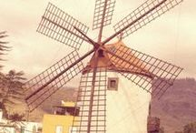 WINDMILLS / I love windmills. My biggest dream in life is to spend one night in an old windmill and sleep in it.
