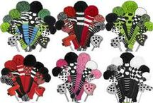 Golf Club Headcovers / Golf clubs are a big investment.  Protect your golf club heads with our stylish golf club headcovers.  Get the whole set or mix and match to co-ordinate with your golf bag.