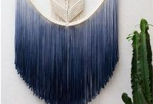 Macrame curtains and wall hangings