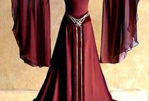 Medieval dresses and coats / Stunning medieval dresses.