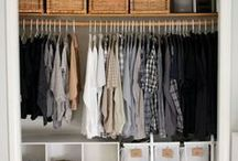 Closet Organization / Ideas and tips to organize your closet on a budget.  Declutter and organize your home on a budget.