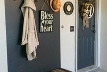Garage Organization / Ideas and inspiration to organize your home on a budget. Decorate and declutter your garage on a budget.