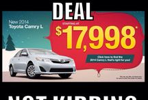 Holiday Special / New 2014 Toyota Camry L models in stock