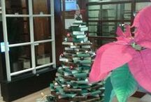 Christmas 2014 / Christmas has arrived in the Library. You can feel it in the air and see it in the decorations. Have you seen the Christmas Tree, which was made out of very special material? Don't miss out, come and see it!