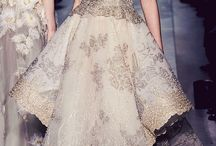 Embroidery and Lace Haute Couture Gowns