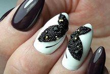 Manicure / Nails art inspiration - classy, stylish, modern, colorful.
