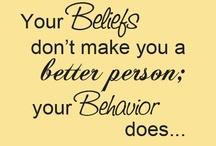 Good Behaviour / Good thought