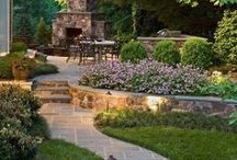 Outdoor Ideas / Make the outside of your house an extension of the inside by selecting elegantly designed outdoor fireplaces, walkways, and landscaping.