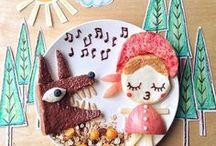 Les assiettes à croquer ! / Des assiettes décorées telles des tableaux gourmands pour illuminer le repas des enfants !  Un concept inspiré des bento ludiques pour enfant réalisés par des mamans japonaises motivées !