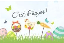 Goûter de Pâques en fête ! / Le plein d'idées pour la déco de votre fêtes de Pâques, des recettes de gourmandises pour le buffet des enfants et des idées pour la chasse aux oeufs !