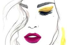 Beauty Face Fashion Sketch