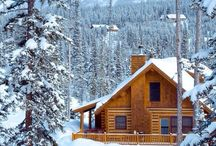 Log cabins / Cabin in the woods for summer and winter.
