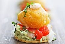 JUST ONE BITE / A collection of great canapes, hors d'oeuvres and other delectable bite sized food that would be great for a wedding or party!