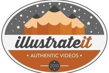 Illustrate It Video Logos / All variations of our logo, both old and new.  / by Illustrate It Video
