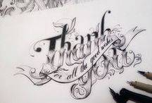 MY WORK, MY CALLYGRAPHY, LETTERING AND HANDDRAWINGS