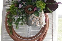 Wreath, swags, bows, door decor and more / Wreaths, swags and other decorations for all seasons. / by Debbie Bailey