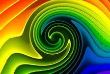Design: The Power of Color / Color can have such visual power in a design. It can demand our attention when it is filled with purity; it can convey the fragility and rebirth of spring; it can give provide us with soft calmness in its quiet tones; it can provide us with luscious, rich dark hues that provoke mystery; it can create a sense of autumnal excitement with its blackened warm hues. It has the power to carry is to every imaginable place or idea.  / by Joen Wolfrom