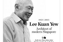 Lee Kuan Yew 李光耀 (1923-2015) / Founding Prime Minister of the Republic Of Singapore, deceased on the 23rd March 2015. A Legendary Giant. 换天的巨人李光耀 / by Karen Fu