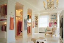 Fabulous Walk-In Closets / They say that the closet is the way to a woman's heart (well someone said it!) Take a look at some fabulous closets that will melt your heart! (FYI Men have closet needs too!)