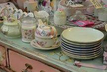 Tea Room / China Tea sets for my Tea Room (Coffee too :)) / by Karen San Miguel